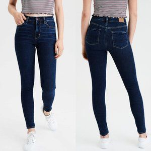 American Eagle High Rise Skinny Jeans, Size 4